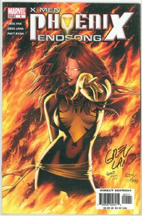 X-Men Phoenix Endsong #1 Dynamic Forces Signed Greg Land DF COA Marvel comic book
